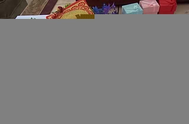 台湾特色电脑刺绣中国春节对联 新年礼品 刺绣烫金对联