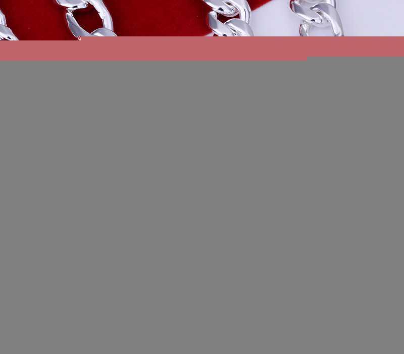 厂家供应 特价银饰批发 欧美外贸纯银饰品 10M三间一项链 N013-26