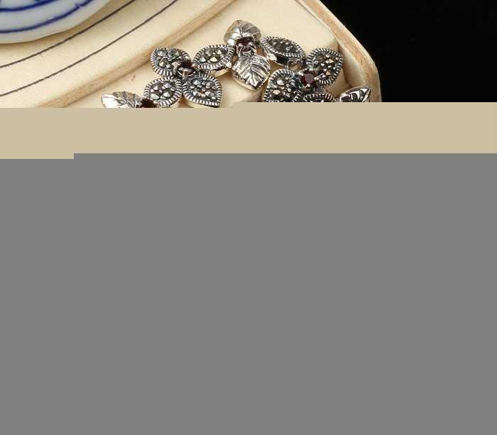 五件起批马克赛手链 花形泰银手链 925纯银手链 四叶草手链P8567