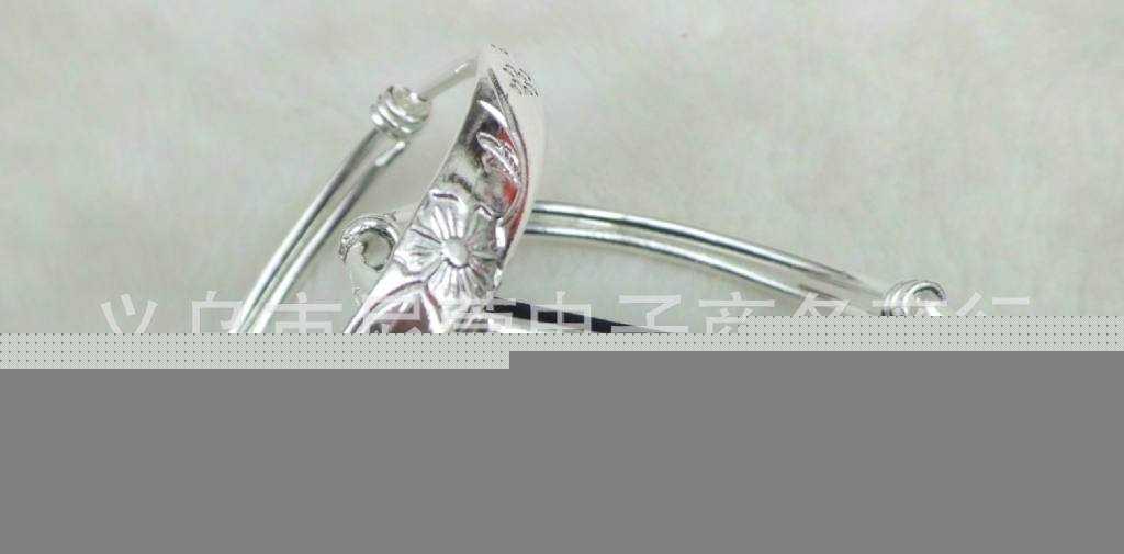 产家直销 纯银手镯批发 2元饰品 专供摆地摊 赶交流 纯银手镯手环