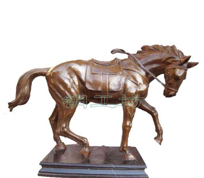 生产【铜工坊】青铜器 生产设计铸造动物人物雕塑战马 铜雕摆件