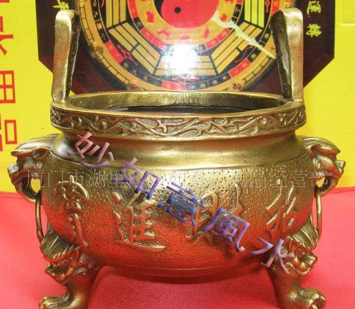 批发7寸有求必应铜香炉 铜器工艺品风水用品佛具佛教用品
