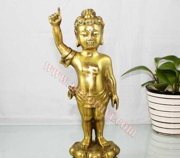 妙如意 10寸纯铜释迦牟尼佛太子佛浴佛像