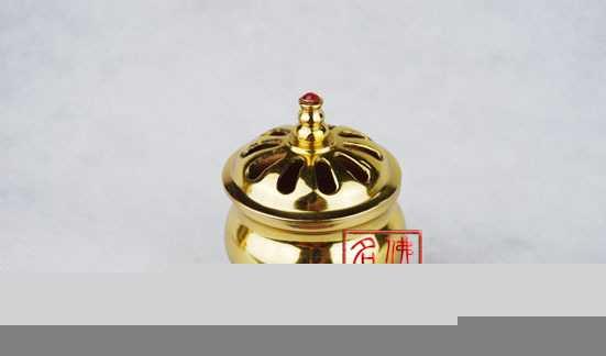 【名山佛教用品】2.5光身檀香炉/香炉/供佛用品