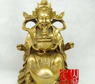 【名山佛教用品】8.8寸送宝财神/铜器