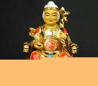 【名山佛教用品】12寸土地婆婆/铜鎏金/佛像