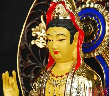 【名山佛教用品】20寸观世音/铜鎏金/佛像