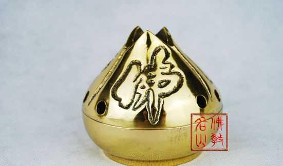 【名山佛教用品】3寸三面佛坛香炉