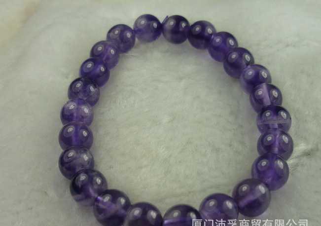 天然 紫水晶手链 纯洁和谐 护身符 珠链 链子4