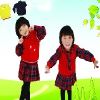 韩版校服定做 幼儿园书包批发 湖北老师服装 团体服首选得富来