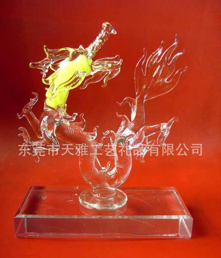 【来图定制】水晶玻璃动物  高品质工艺礼品玻璃龙