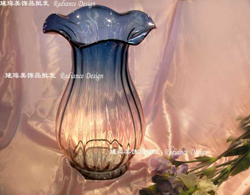 玻璃工艺品 玻璃花瓶;彩色玻璃花瓶;出口美国;水晶玻璃花瓶