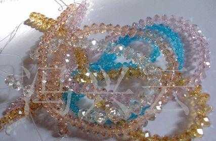水晶车轮珠,合成水晶,玻璃宝石,足球珠饰品