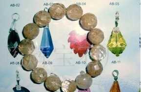 水晶玻璃珠 宝石石榴石工艺品