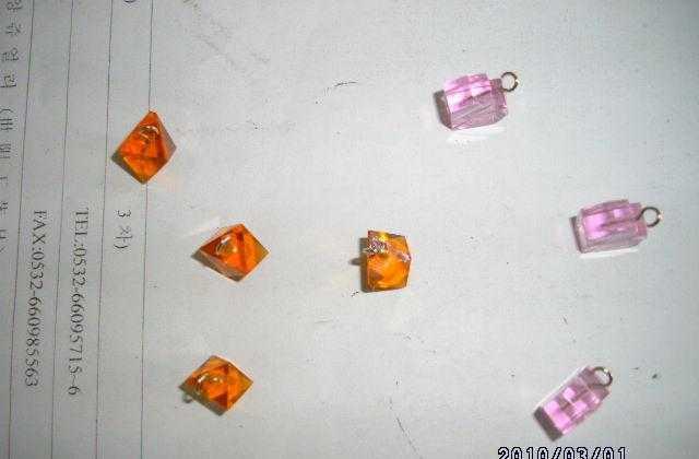 供应水晶项链   琉璃珠 玻璃珠 玻璃饰品 镀金饰