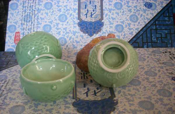 高档茶具 梅青茶具 手绘茶具 德化瓷 高档龙泉青瓷 高级礼瓷套组