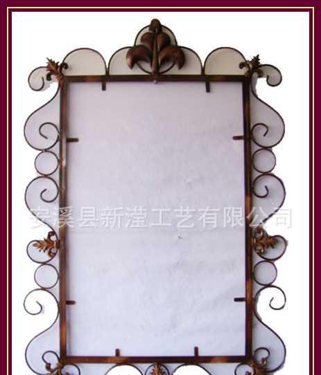 新滢工艺 铁线镜框 欧式田园铁艺镜框 金属镜框