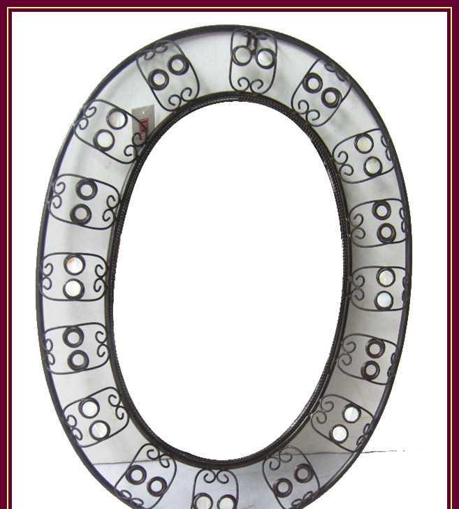 椭圆铁艺镜框 金属镜框 金属手工工艺品 装饰镜