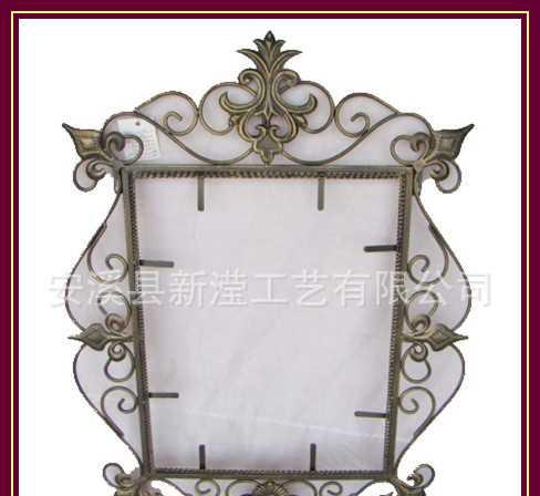 新滢工艺 优质欧式铁艺金属镜框 相框 浴镜框