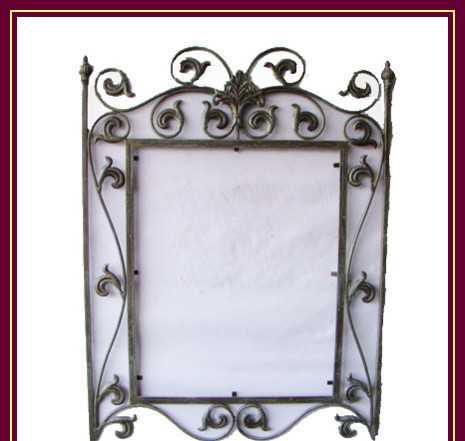 厂家直销 铁艺壁式镜框 铁艺镜框 装饰镜框 欧式 田园