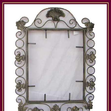 铁艺壁挂镜框 浴室镜子 铁艺镜框