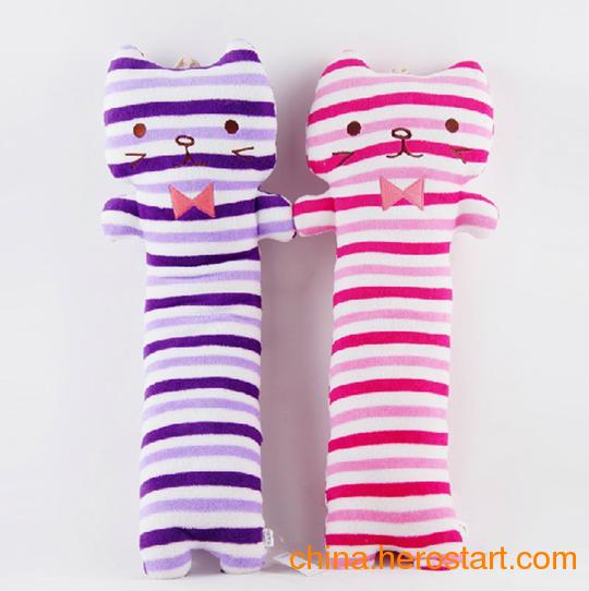 供应条纹猫毛绒玩具