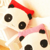 供应熊猫毛绒抱枕娃娃