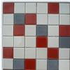 供应内外墙白红灰混色水晶玻璃马赛克