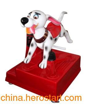 供应斑点狗 中山儿童游乐设备 玻璃钢儿童摇摇车