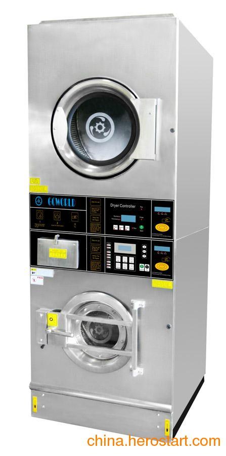 供应珠海双层投币洗衣机_洗脱干衣机