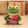 供应信豫玩具吉祥物订做18CM格布卡通青蛙毛绒玩具