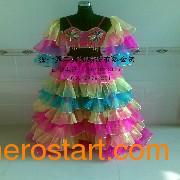 舞蹈彩色大摆裙|演出活动服|表演服装|feflaewafe