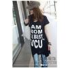 供应沙河女士时尚t恤女士短袖t恤北京大红门批发市场印花新款T恤批发