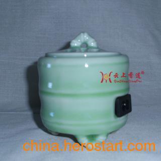 供应云上香道 车载香熏炉 电熏香炉 陶瓷香薰器具 可定时调温精典礼品