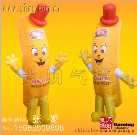 喜旺卡通/香肠气模/烤肠卡通/充气模型