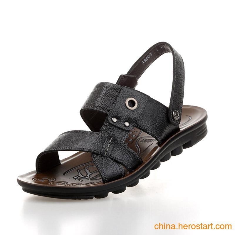 供应温州沙滩鞋 真皮沙滩鞋 沙滩凉鞋厂家直供品质保证
