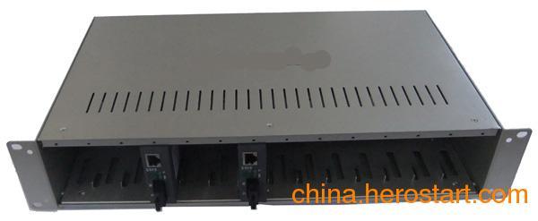 供应netlink16槽双电源光纤收容箱CVT-RACK-16D,收发器机架