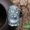 供应兄弟翡翠 玻璃种翡翠佛公 天然缅甸玉器弥勒佛精品收藏