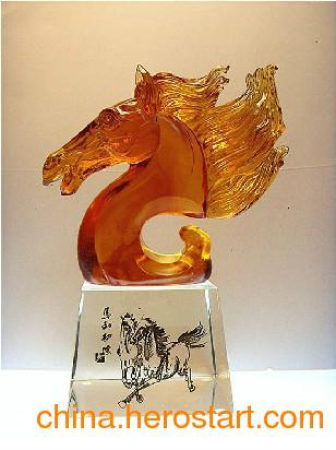 供应西安琉璃工艺品,西安琉璃奖杯定制,西安工艺品