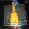 供应玩具厂家直供琳琳搪胶玩具 大号发声鸡 整蛊玩具