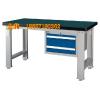 供应重型工作桌 钳工桌 复合工作台  单吊柜钳工修模平台
