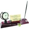 供应商务办公礼品-办公台摆件笔筒名片夹钟表