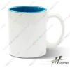 厂家供应内彩杯涂层杯陶瓷工艺品马克杯热转印耗材