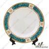 厂家供应8寸花边盘瓷盘工艺花盘热转印工艺品陶瓷