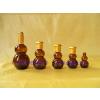 长期现货供应玻璃茶色30ML葫芦瓶 电化铝盖子