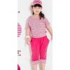 供应女童套装 大中儿童2013夏装新款 大童女童条纹短袖中裤