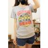 供应2013韩版夏装女装大码棉质修身印花短袖圆领t恤