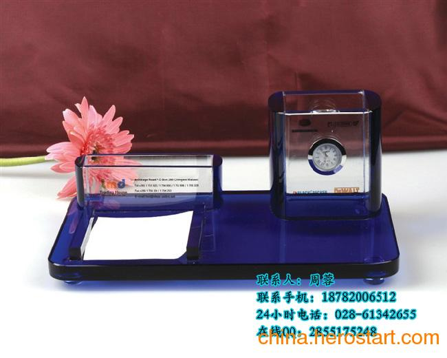 供应水晶制作生产批发厂家 水晶笔筒批发 水晶工艺定做   广州环典工艺品有限公司