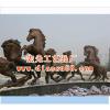 供应铜马雕塑-宏光专业生产动物雕塑