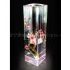 供应彩绘水晶玻璃花瓶,西安水晶花瓶工艺品定做